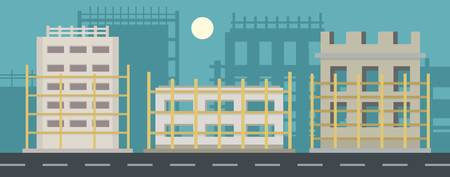 House project banner horizontal. Flat illustration of house project vector banner for web 일러스트