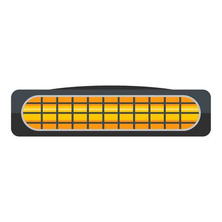 Small heater icon. Flat illustration of small heater vector icon for web Vettoriali