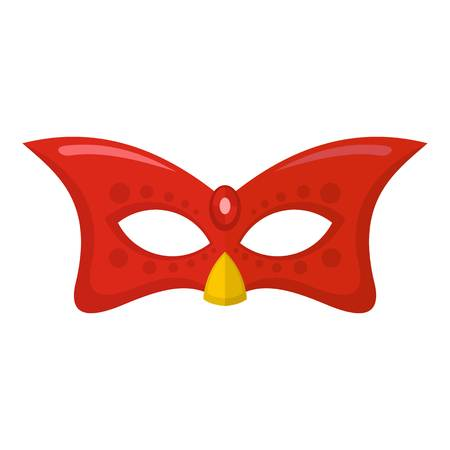 Carnival mask icon. Flat illustration of carnival mask vector icon for web Çizim