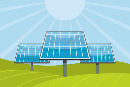 Solar battery concept. Flat illustration of solar battery vector concept for web