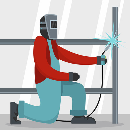 Welder icon. Flat illustration of welder vector icon for web