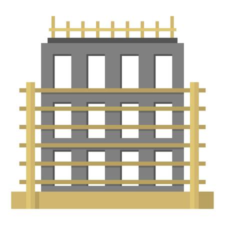 House exterior icon. Flat illustration of house exterior vector icon for web