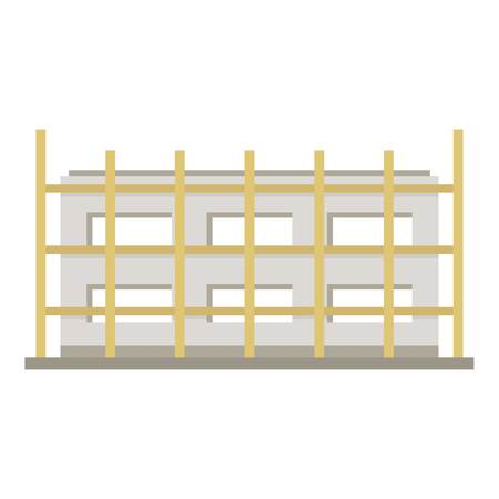 Building icon. Flat illustration of building vector icon for web Ilustracja