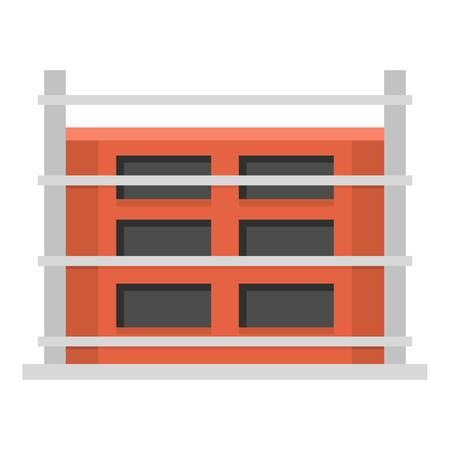 Structure of house icon. Ilustracje wektorowe