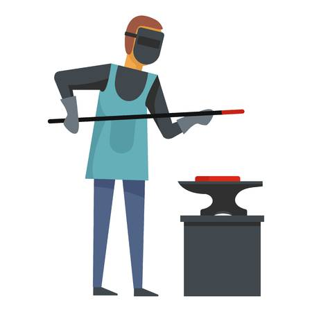 Blacksmith icon. Flat illustration of blacksmith vector icon for web