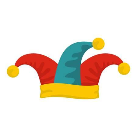 Spaßvogel Hut-Symbol. Flache Illustration der Spaßvogelhut-Vektorikone für Netz