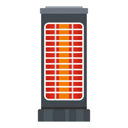 Warm heater icon. Flat illustration of warm heater vector icon for web