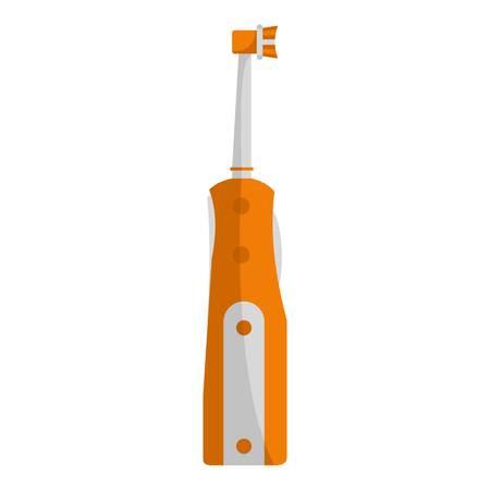 Protecting toothbrush icon. Flat illustration of protecting toothbrush vector icon for web