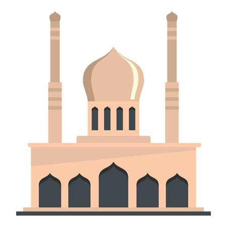 Mosque icon. Flat illustration of mosque vector icon for web