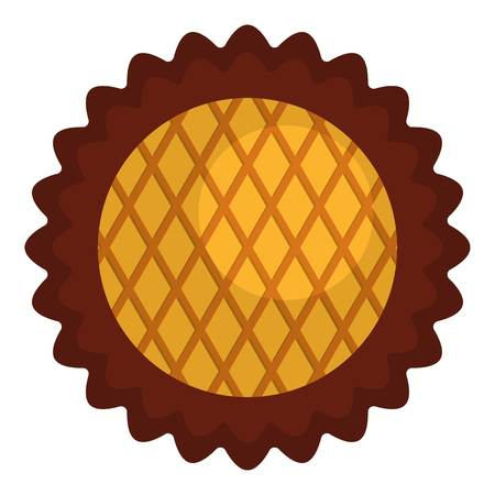 Jam biscuit icon. Flat illustration of jam biscuit vector icon for web