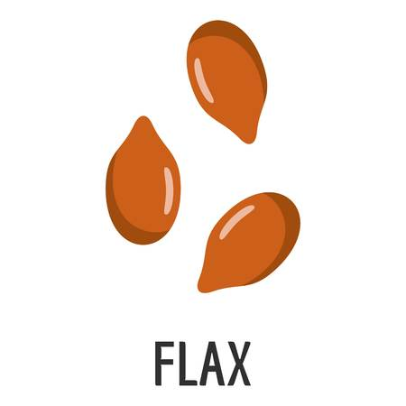 Flax icon. Flat illustration of flax vector icon for web Vettoriali