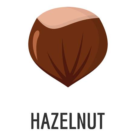 Hazelnut icon. Flat illustration of hazelnut vector icon for web Çizim