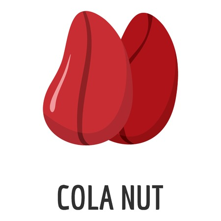 Cola nut icon. Flat illustration of cola nutvector icon for web