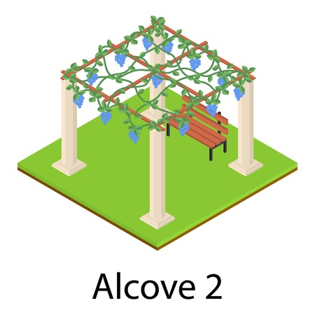 Alcove icon. Isometric illustration of alcove vector icon for web