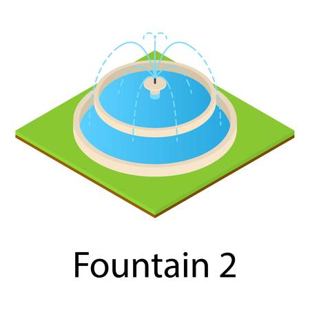Fountain icon. Isometric illustration of fountain vector icon for web Illustration