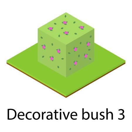 Bush icon. Isometric illustration of bush vector icon for web