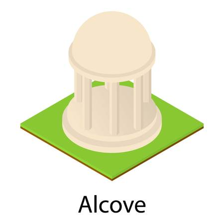Park alcove icon. Isometric illustration of park alcove vector icon for web