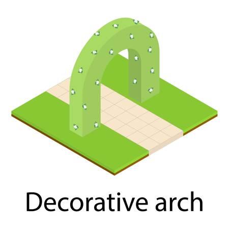 Decorative arch icon. Isometric illustration of decorative arch vector icon for web