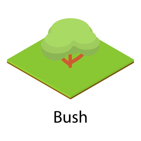 Resting place icon of bush. Isometric illustration of resting place vector icon for web