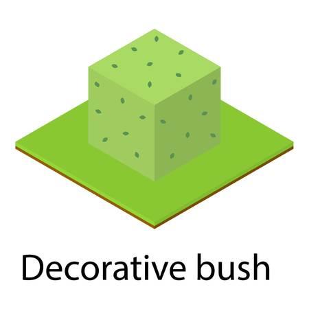 Decorative bush icon. Isometric illustration of decorative bush vector icon for web