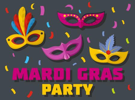 Carnival show logo. Flat illustration of carnival show vector logo for web