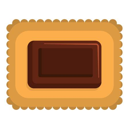 Butter biscuit icon. Flat illustration of butter biscuit vector icon for web 일러스트