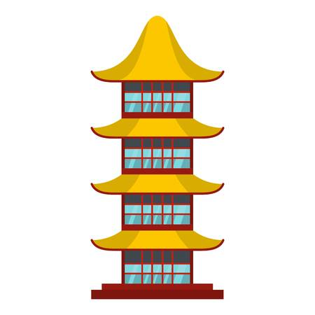 Asian temple icon. Flat illustration of asian temple vector icon for web Illustration