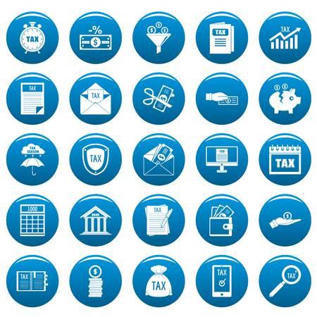 Taxes icons set