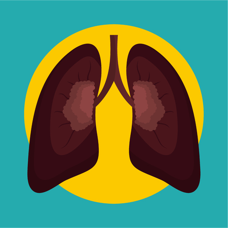 After smoking lungs icon Illustration