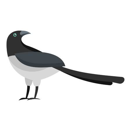 turning magpie icon. Flat illustration of turning magpie vector icon for web
