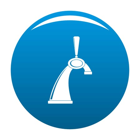 Small tap icon. Simple illustration of small tap vector icon for any design blue
