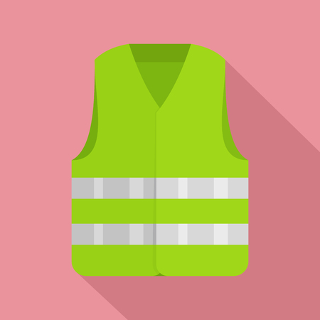 Driver reflective vest icon. Flat illustration of driver reflective vest vector icon for web design Stock Vector - 101157722