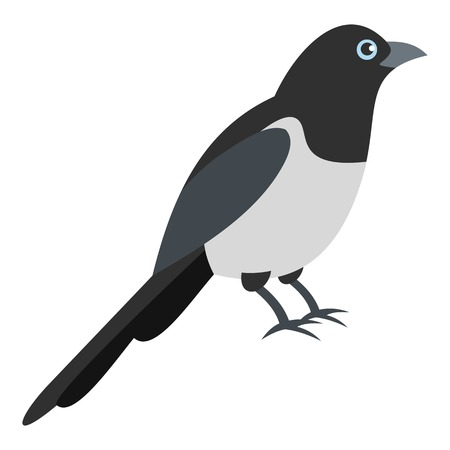 Garden magpie icon. Flat illustration of garden magpie vector icon for web