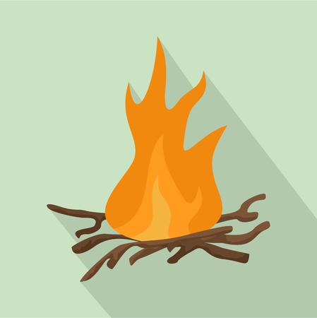 Campfire icon vector illustration Illustration