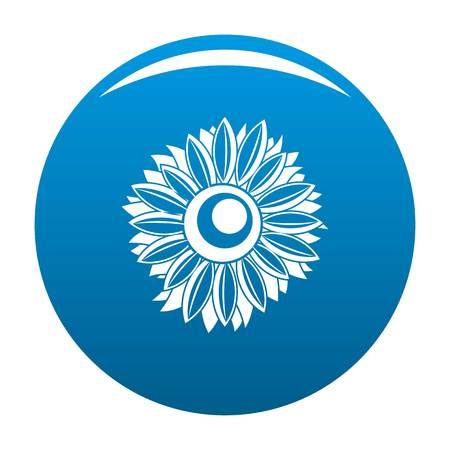 Summer sunflower icon. Simple illustration of summer sunflower vector icon for any design blue Illustration