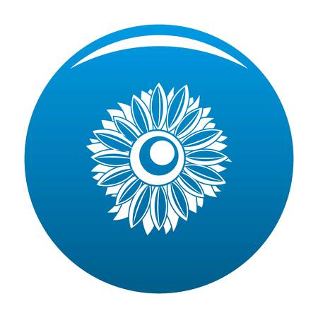 Summer sunflower icon. Simple illustration of summer sunflower vector icon for any design blue 일러스트