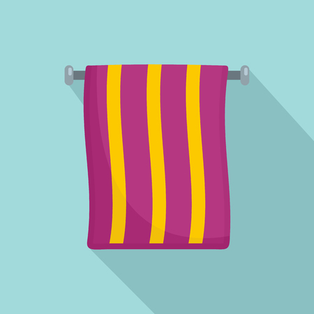 Hand towel icon. Flat illustration of hand towel vector icon for web design