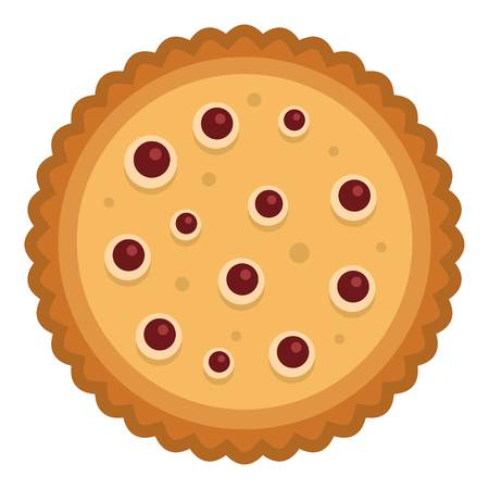Candy biscuit icon. Flat illustration of candy biscuit vector icon for web