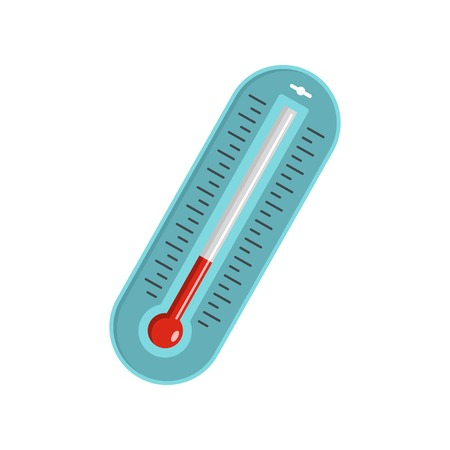 Fever thermometer icon. Flat illustration of fever thermometer vector icon for web