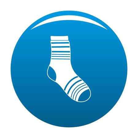 Boy sock icon. Simple illustration of boy sock vector icon for any design blue