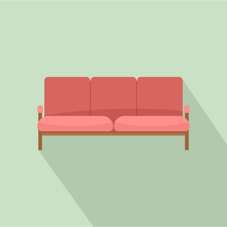 Ledger sofa icon. Flat illustration of ledger sofa vector icon for web design
