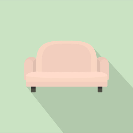 Armchair sofa icon. Flat illustration of armchair sofa vector icon for web design