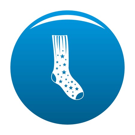 Sock with star icon. Simple illustration of sock with star vector icon for any design blue