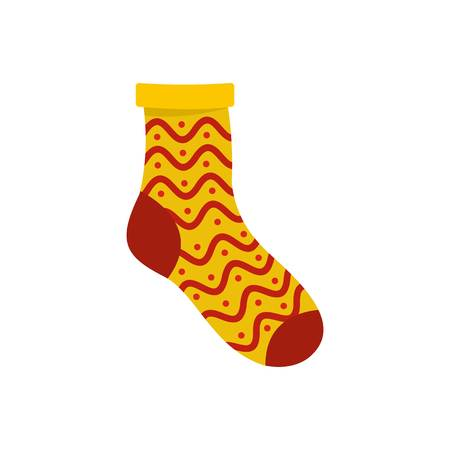 Nice sock icon. Flat illustration of nice sock vector icon for web Vectores