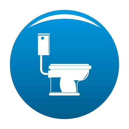 Toilet icon. Simple illustration of toilet vector icon for any design blue Illustration