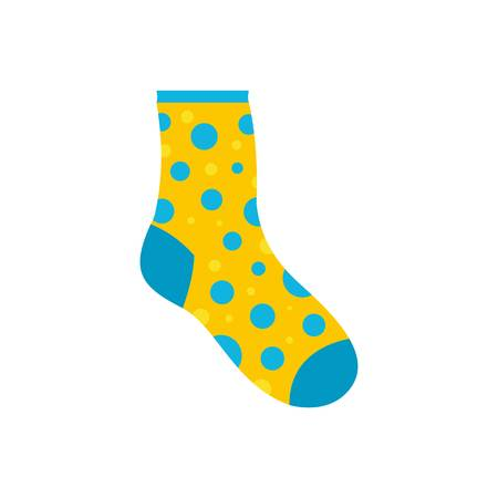Lost sock icon. Flat illustration of lost sock vector icon for web Illustration
