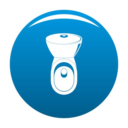 Wc icon. Simple illustration of wc vector icon for any design blue