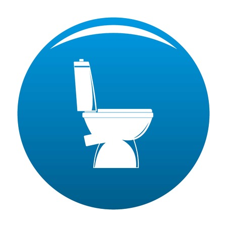 Home toilet icon. Simple illustration of home toilet vector icon for any design blue