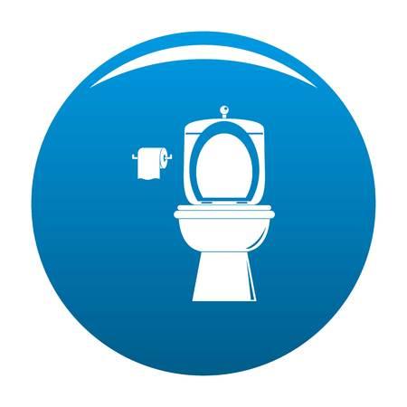 Ceramic toilet icon. Simple illustration of ceramic toilet vector icon for any design blue