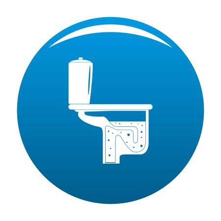 Toilet equipment icon. Simple illustration of toilet equipment vector icon for any design blue Illustration